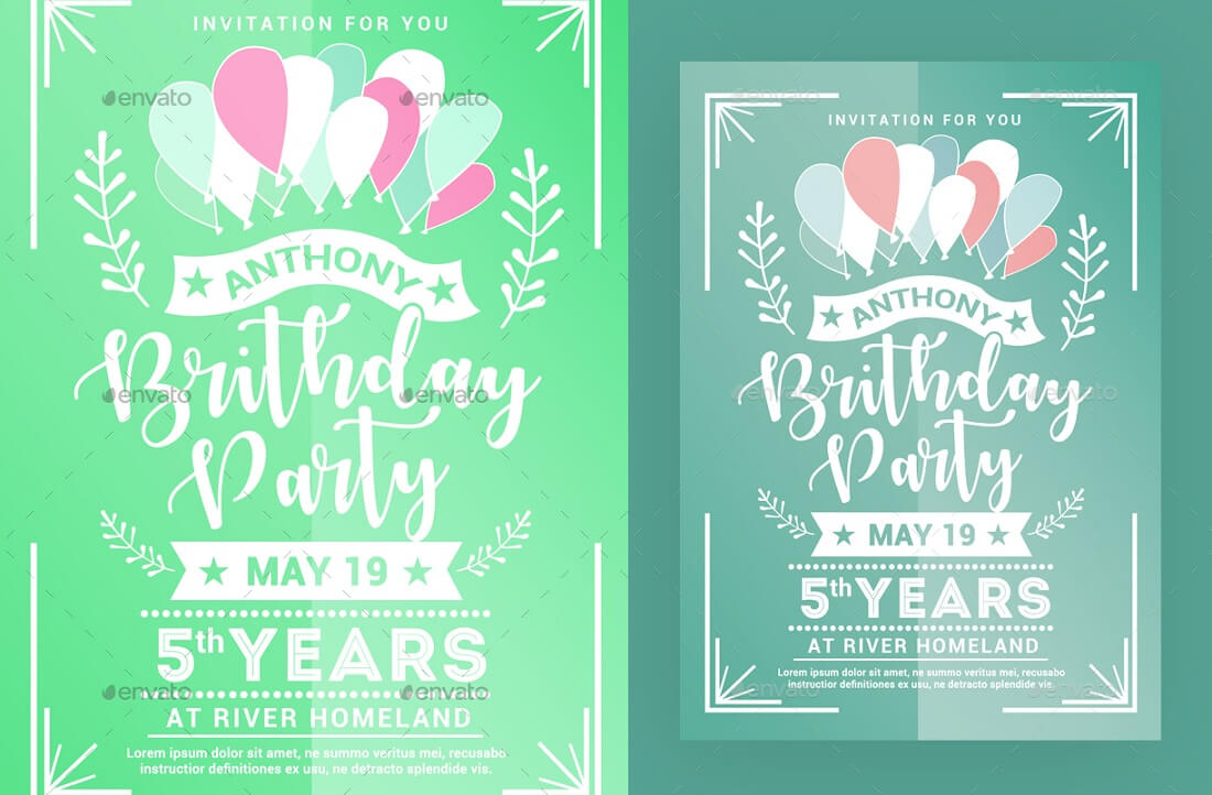 17 best editable party invitation templates in 2017 colorlib birthday party invitation template stopboris Images