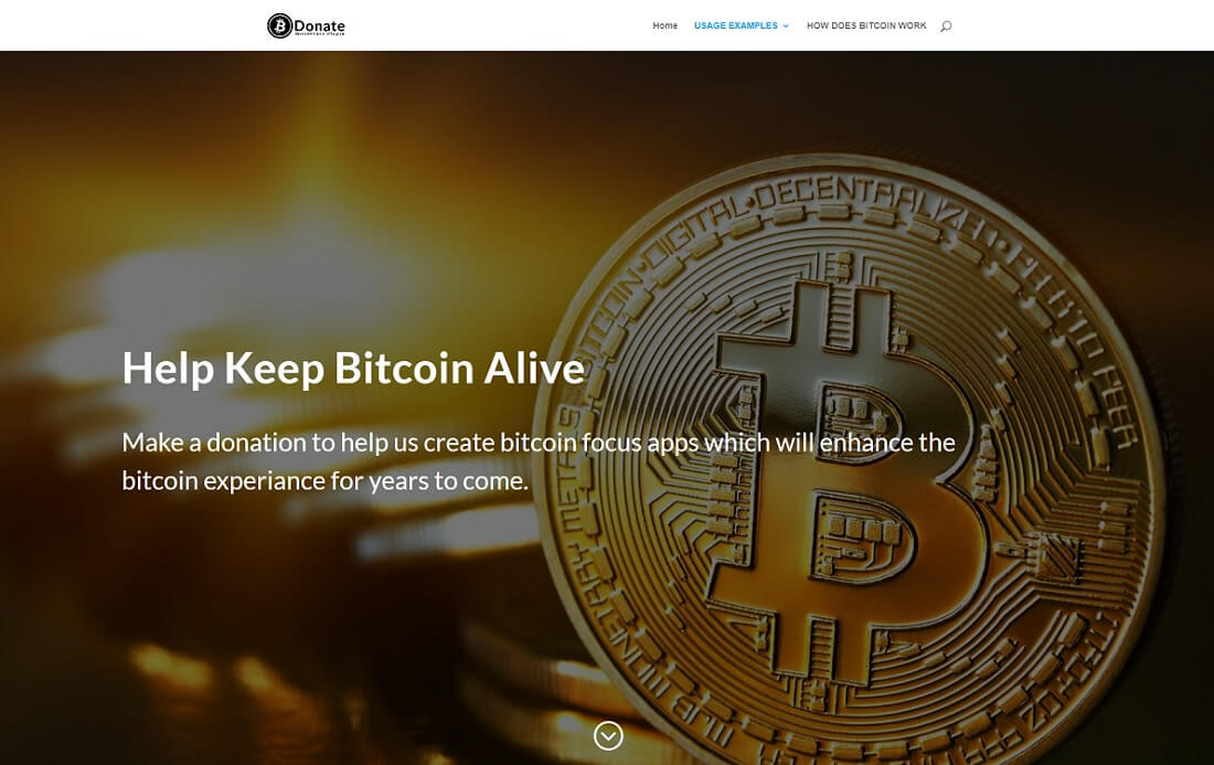 bitcoin donate cryptocurrency wordpress plugin