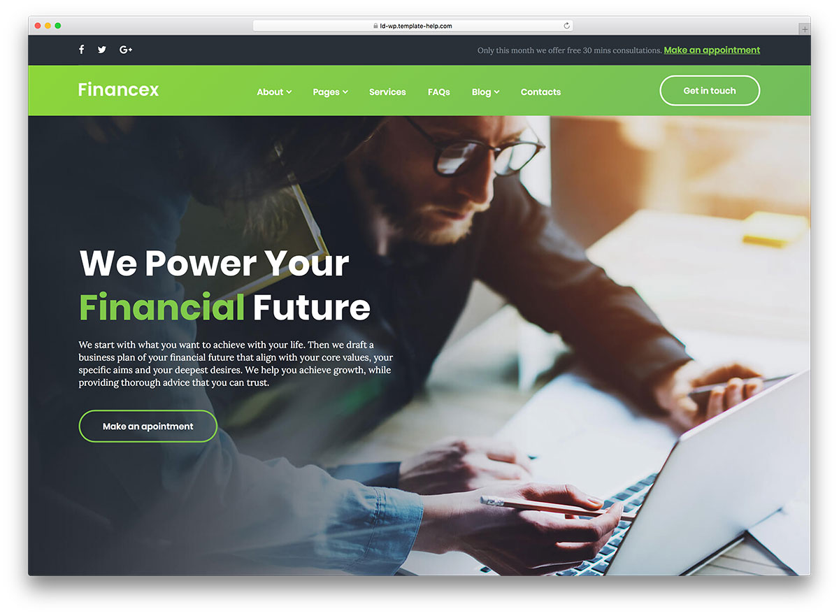 Financex Finance and banking wordress theme