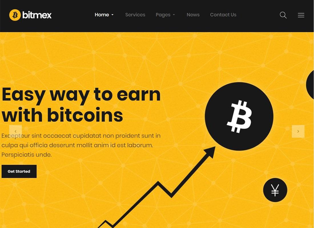Bitmex | Cryptocurrency & Bitcoin WordPress Theme