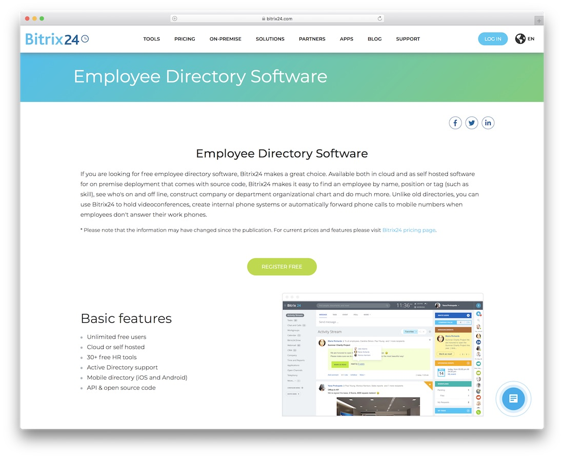 bitrix24 directory website builder