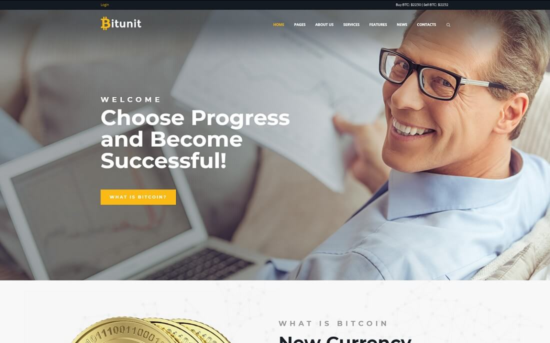 bitunit cryptocurrency wordpress theme