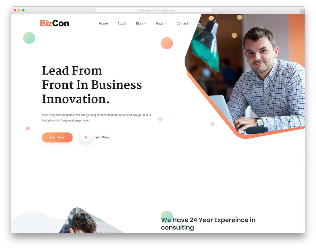 bizcon free template