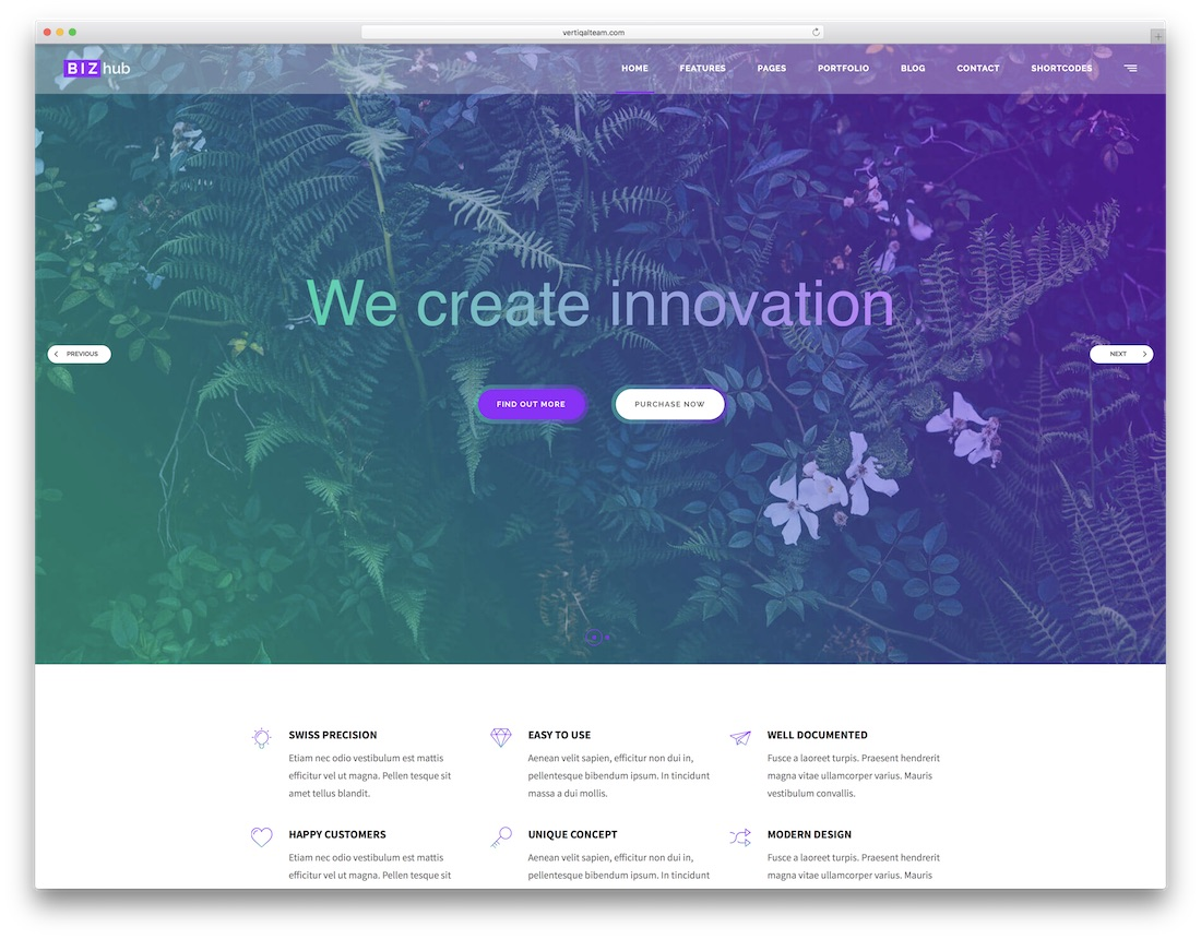 bizhub artist website template