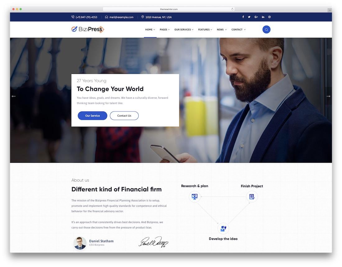 bizipress consulting website template