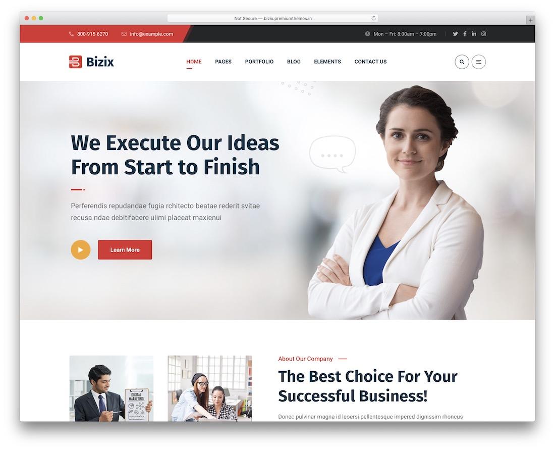 bizix website template
