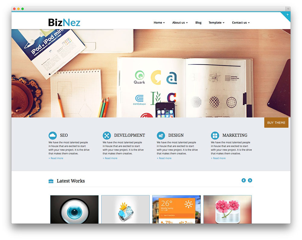 30 free responsive wordpress business themes 2018 colorlib biznet corporate portfolio theme accmission Choice Image