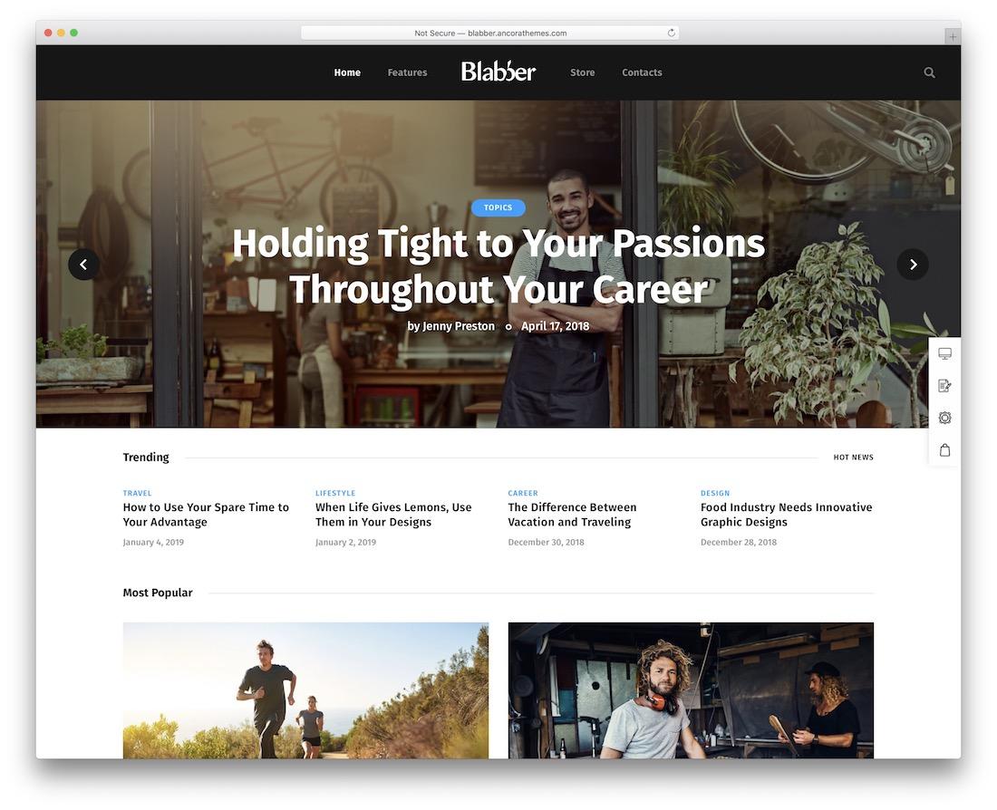 blabber affiliate wordpress theme