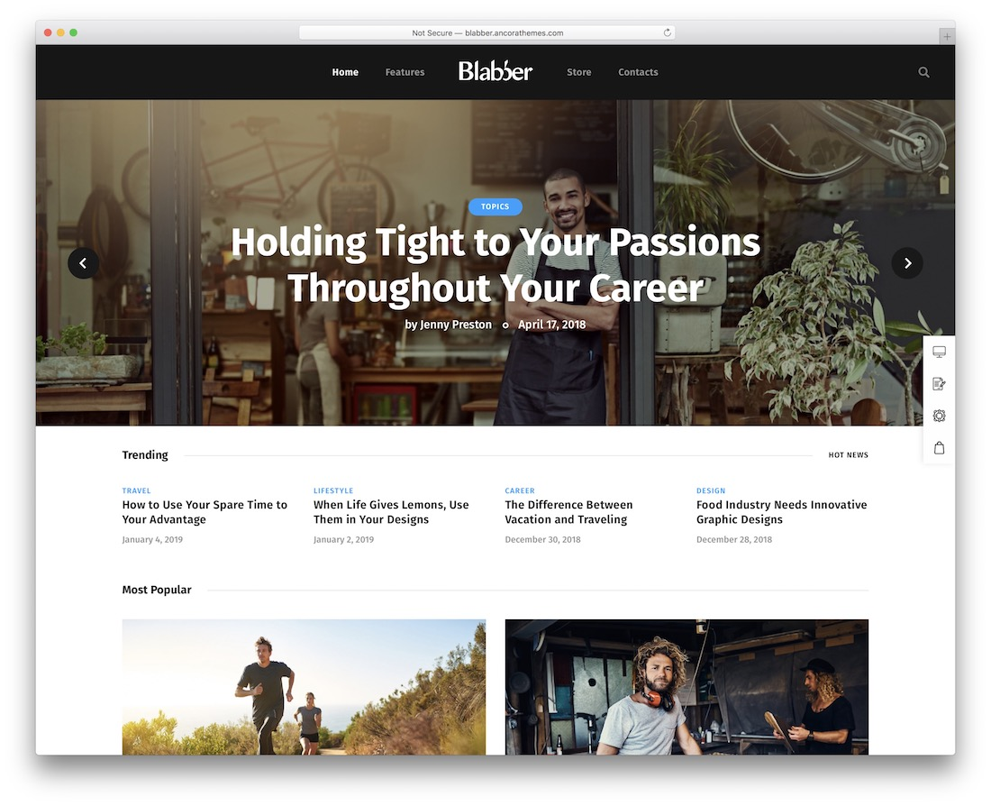blabber amazon affiliate wordpress theme