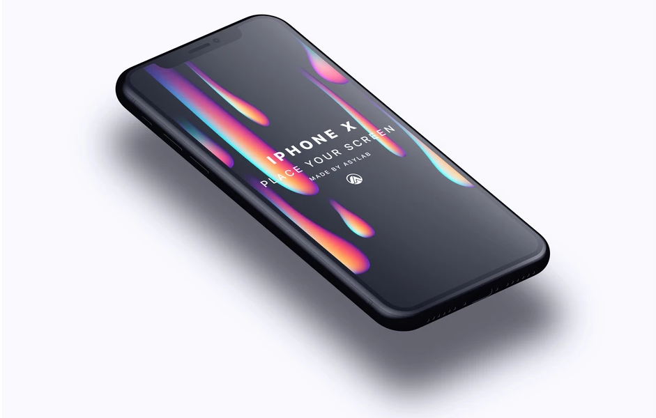black iphone x mockup