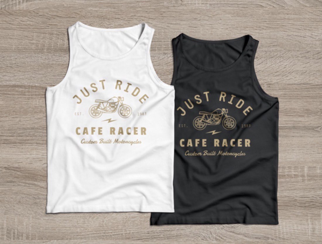 black white tank tops design