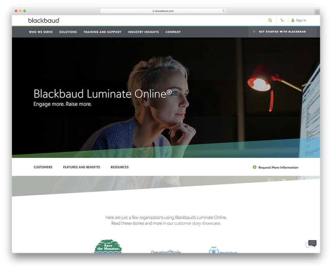 blackbaud membership website builder