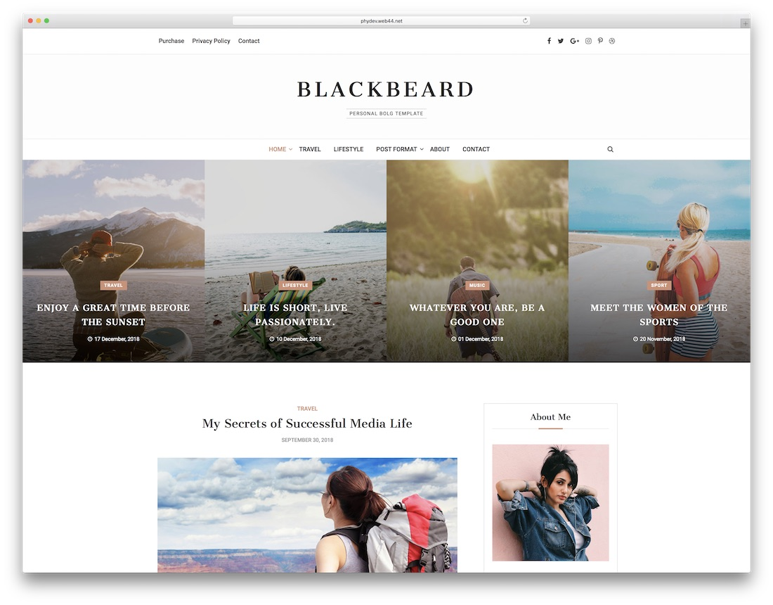 blackbeard writer website template
