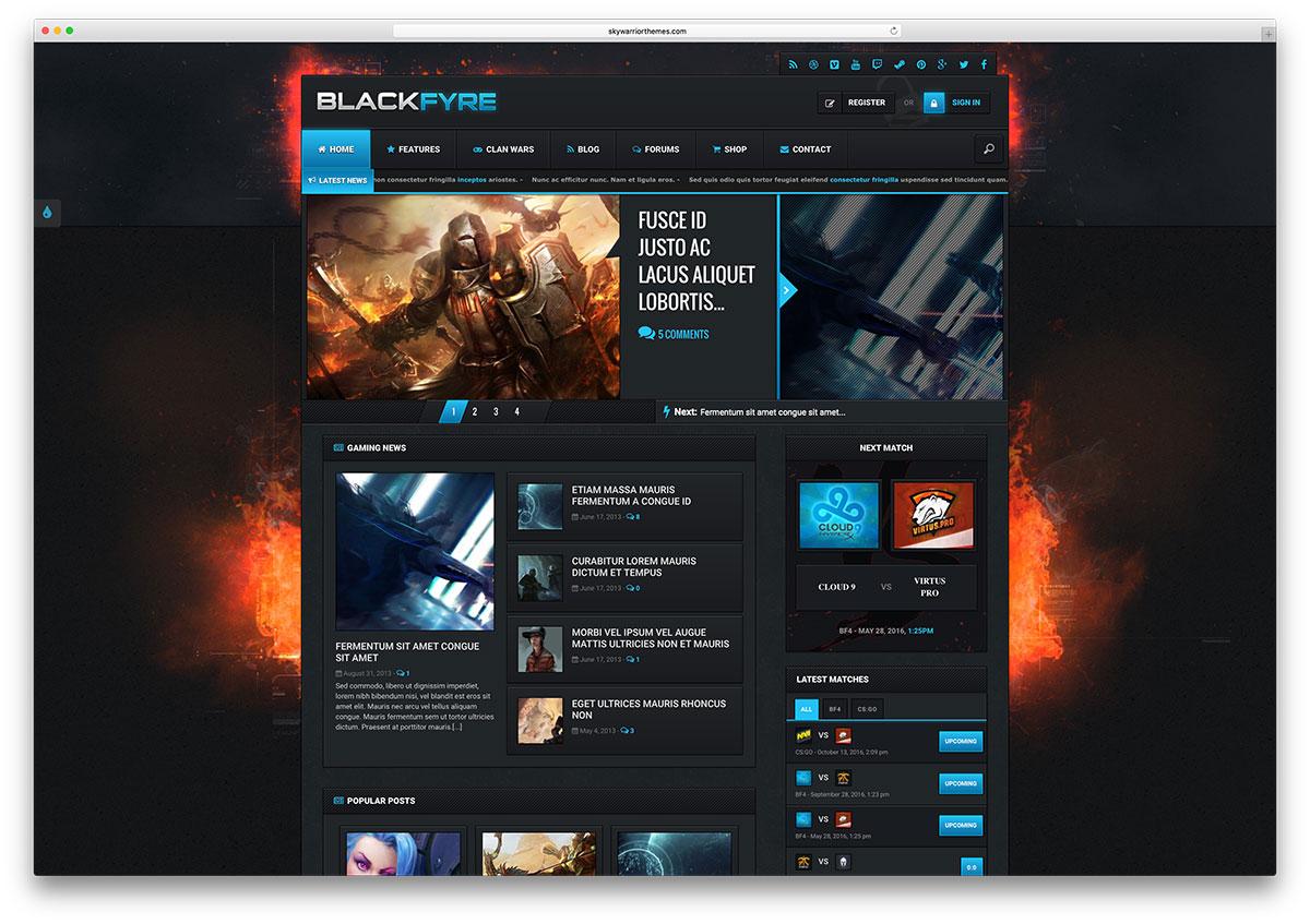 blackfyre-dark-gamer-wordpress-theme