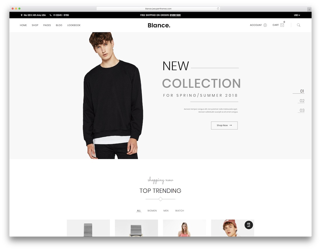 blance metro wordpress theme