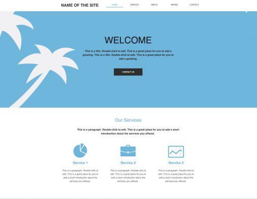 Blank Web Page Layout