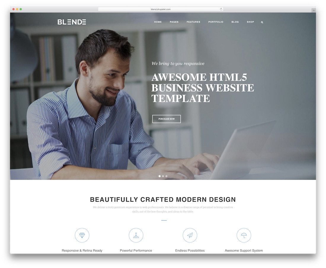 blend drupal business template