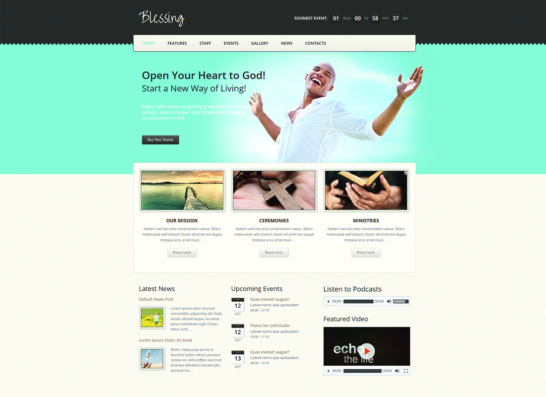Blessing - WordPress Theme for Church and Charity Websites
