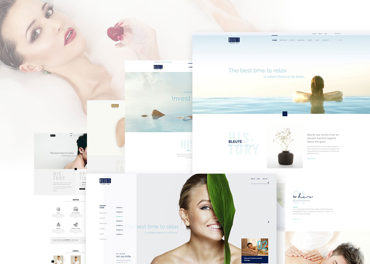 bleute-minimal-spa-salon-theme
