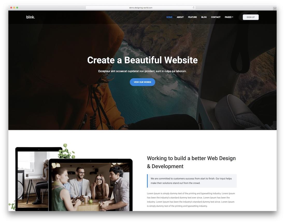 blink freelancer website template