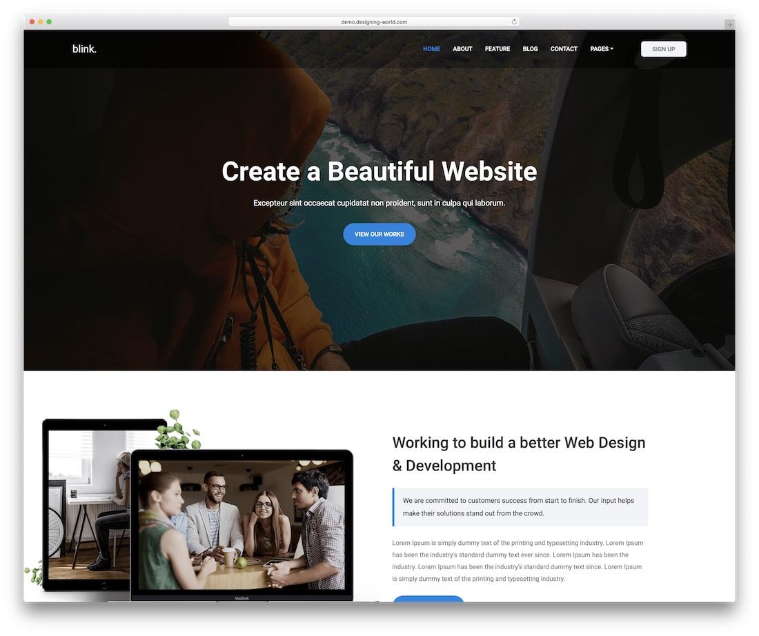 blink simple website template