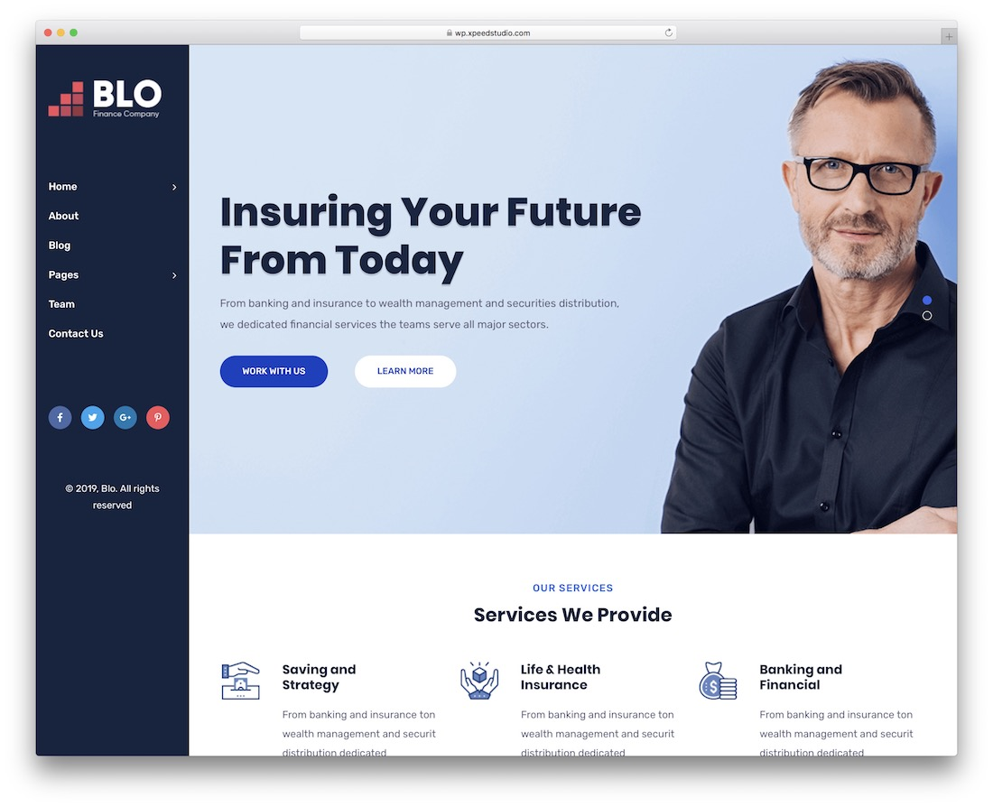 blo website template