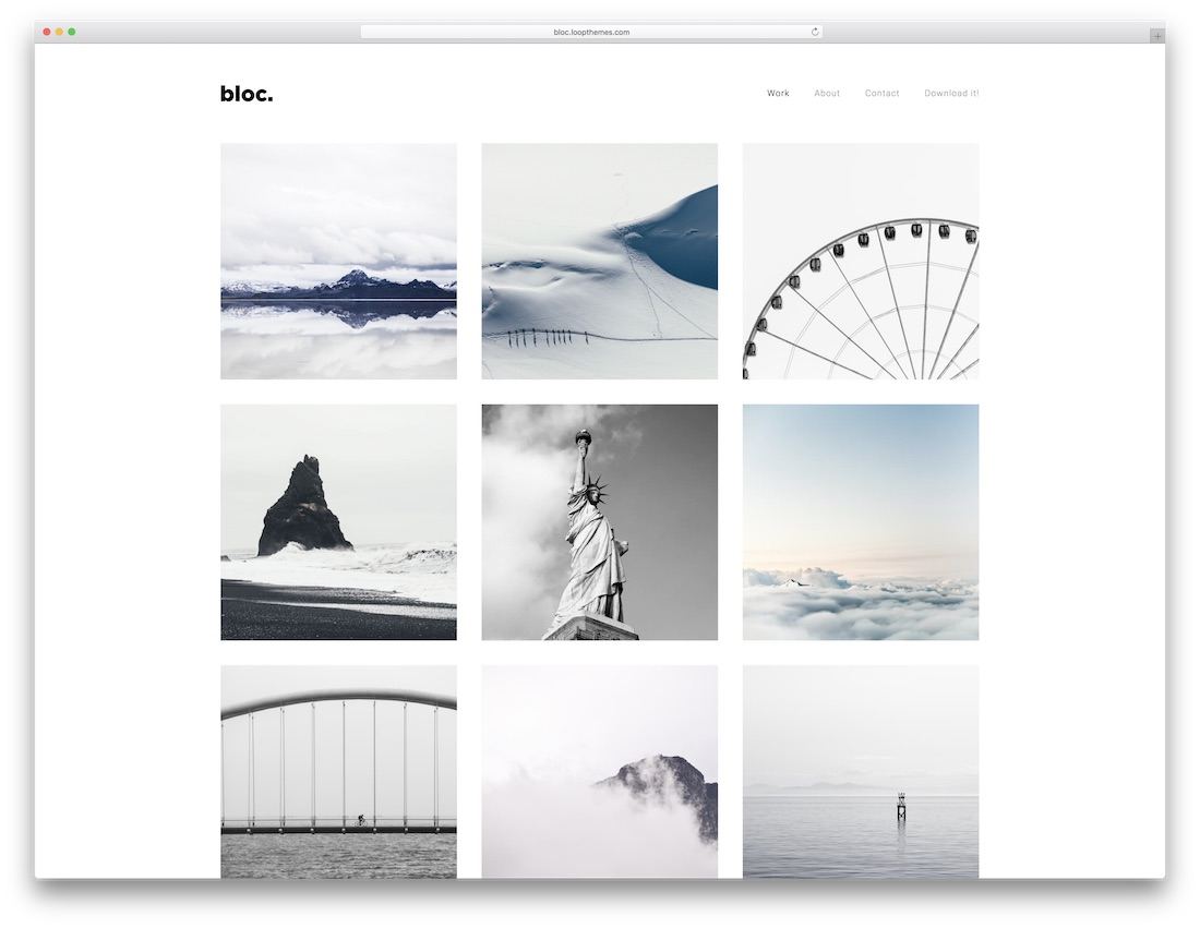 Best Stunning Free Photography Website Templates HTML WordPress - Photography website templates free download