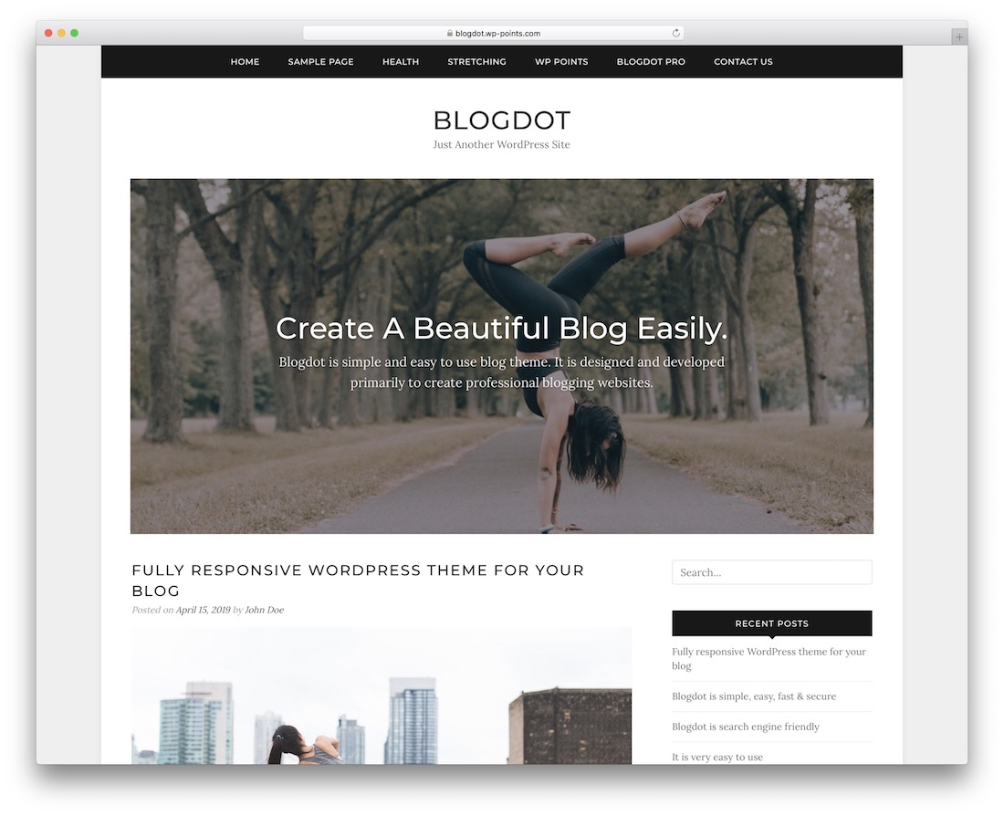 blogdot free wordpress themes