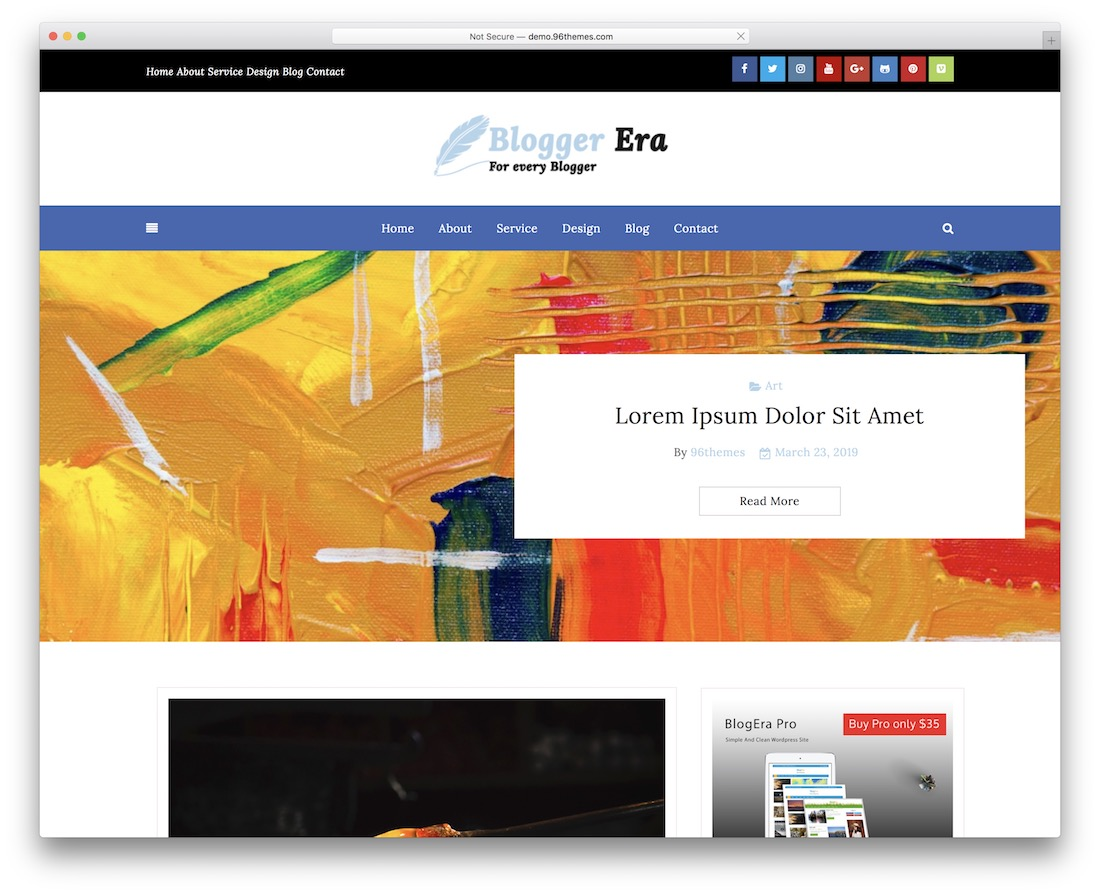 blogger era plus free wordpress themes