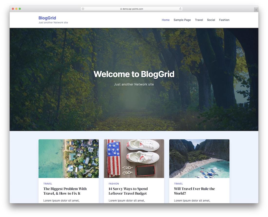 bloggrid free wordpress theme