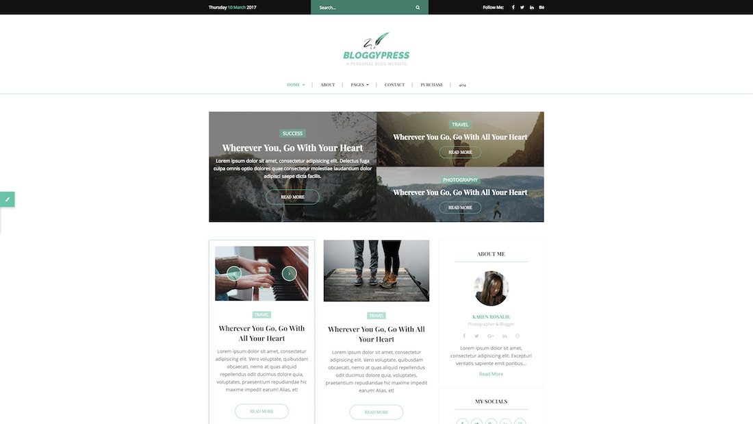 bloggypress writer website template