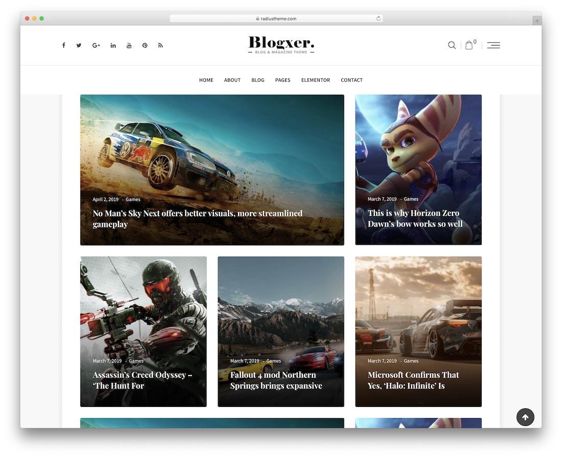blogxer gaming wordpress theme