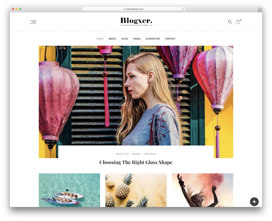blogxer wordpress theme