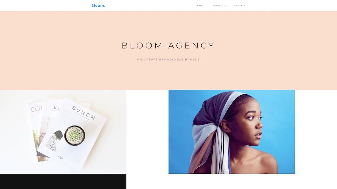 bloom graphic design website template