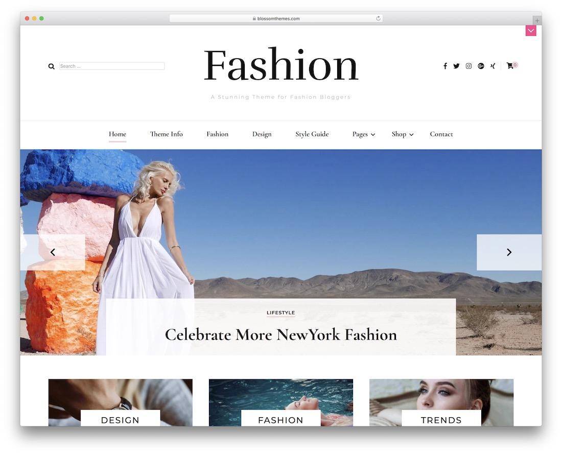 blossom fashion free wordpress theme