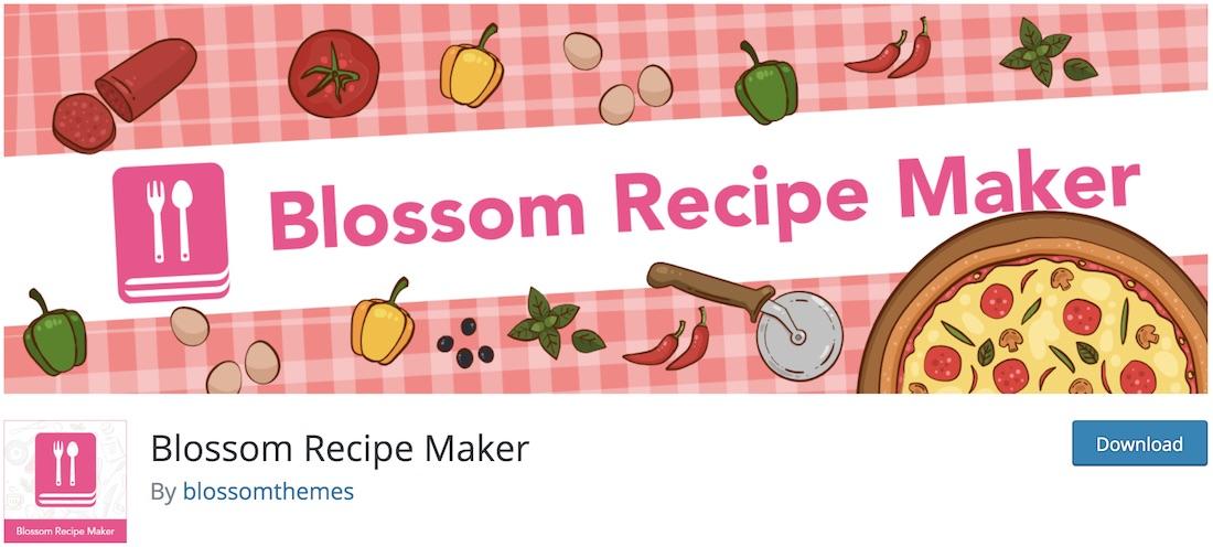 blossom recipe maker wordpress plugin