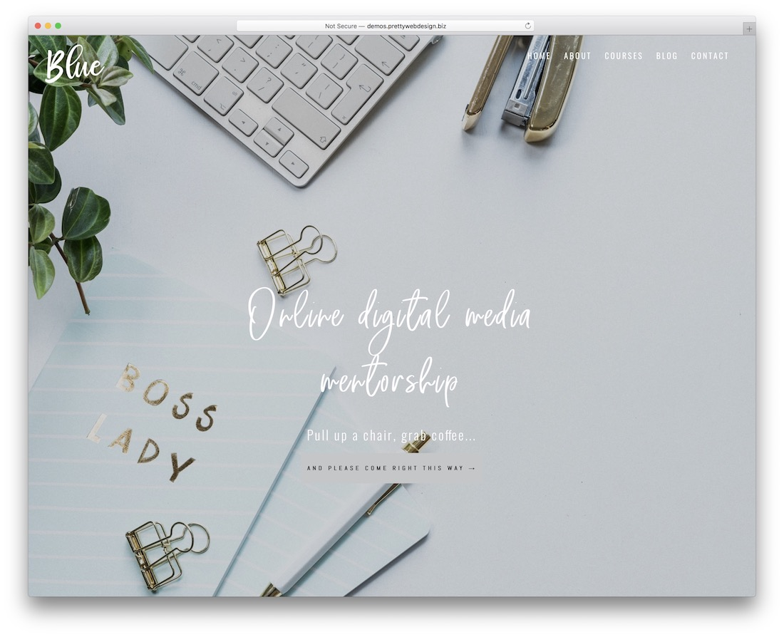 blue divi child theme