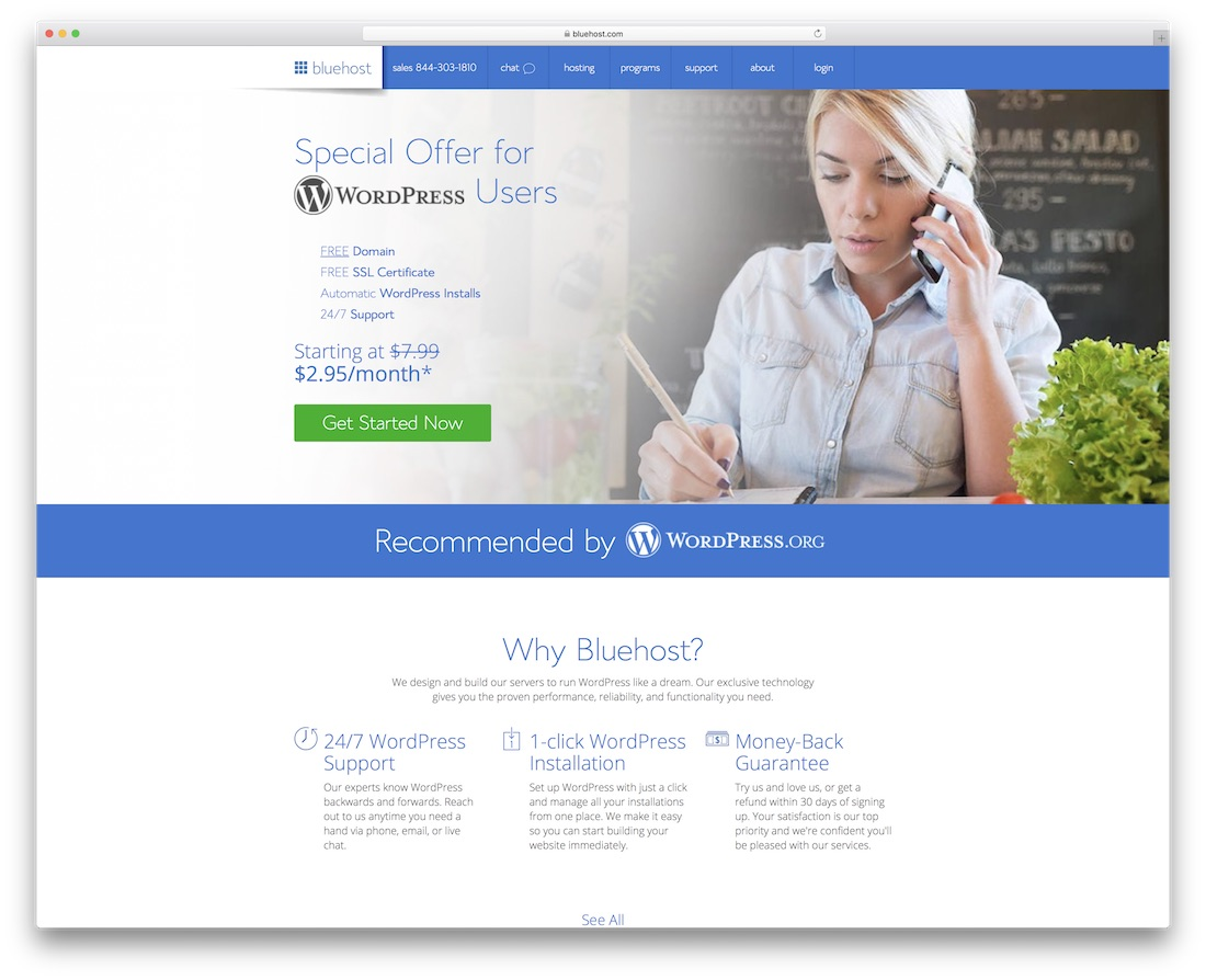bluehost web hosting for personal website