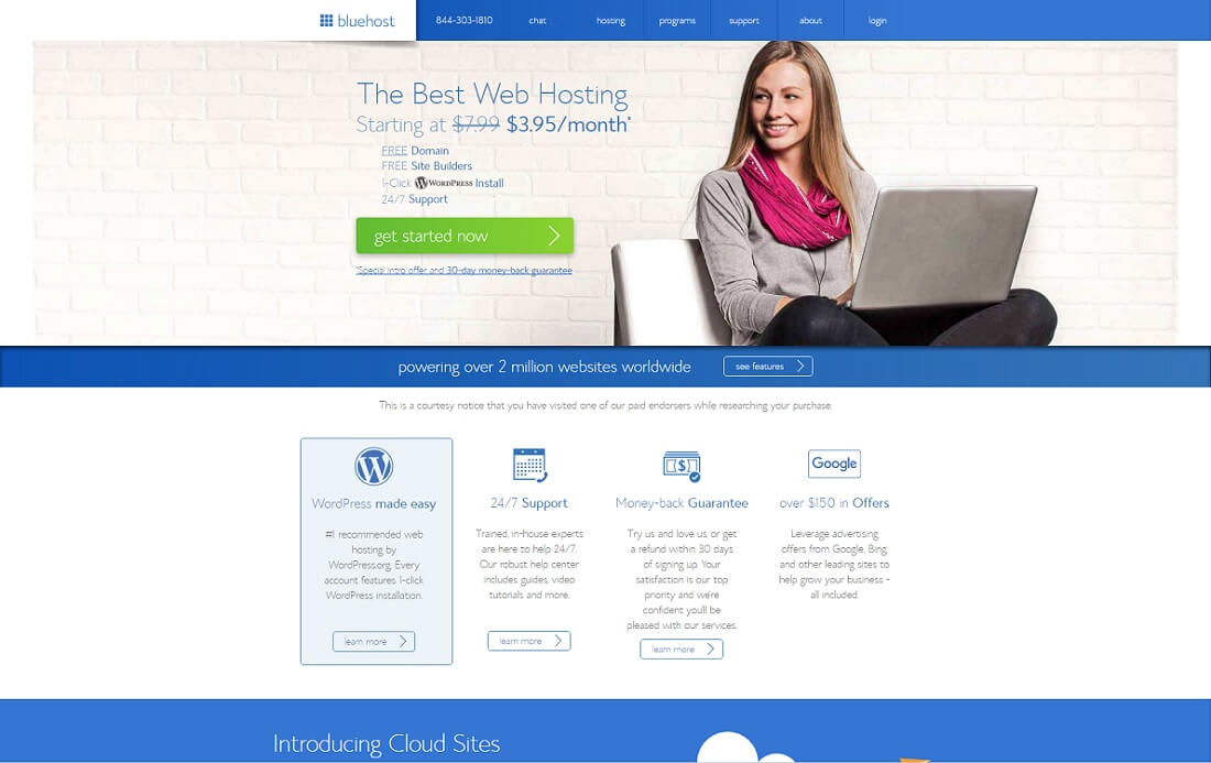 bluehost web hosting personal website
