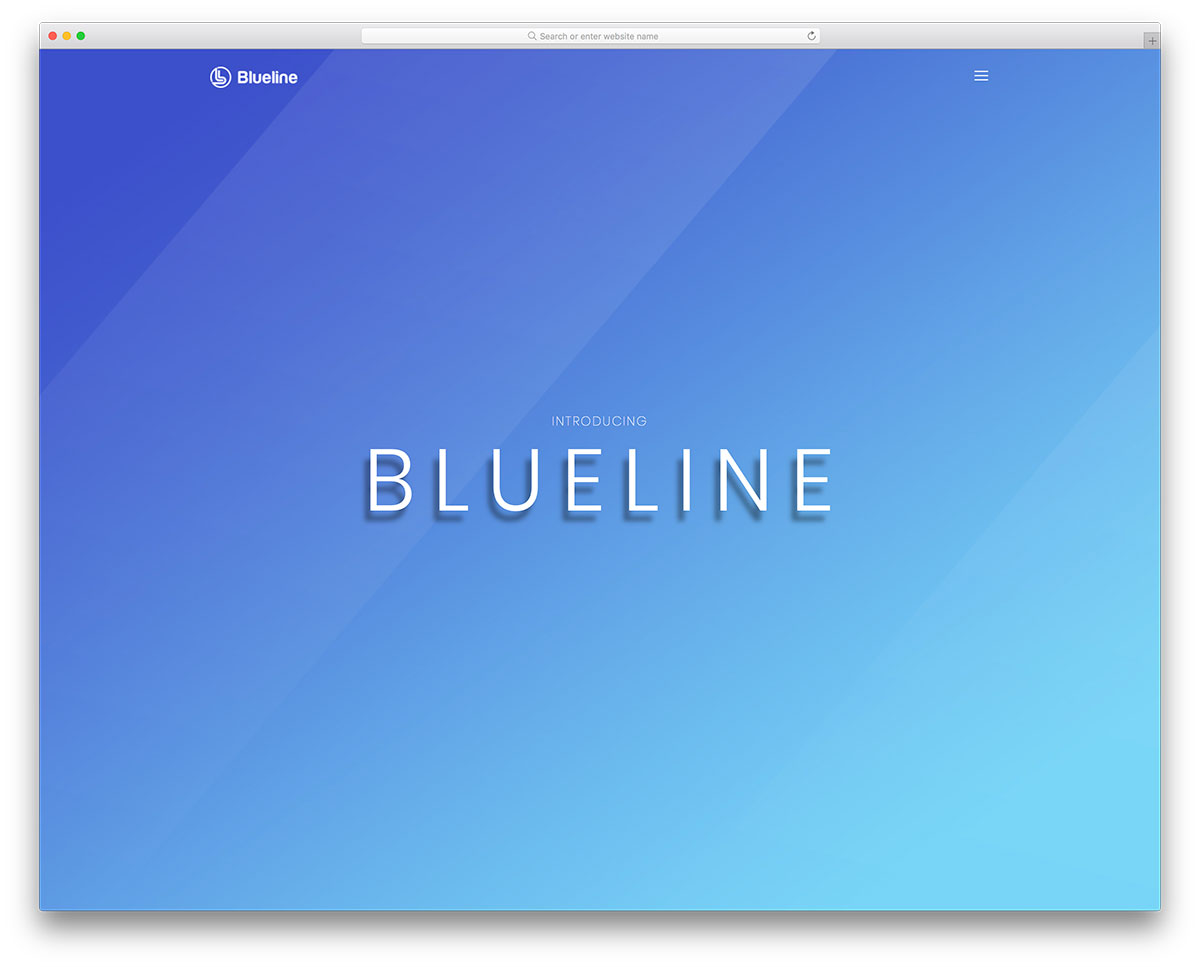 blueline free mobile-friendly website template