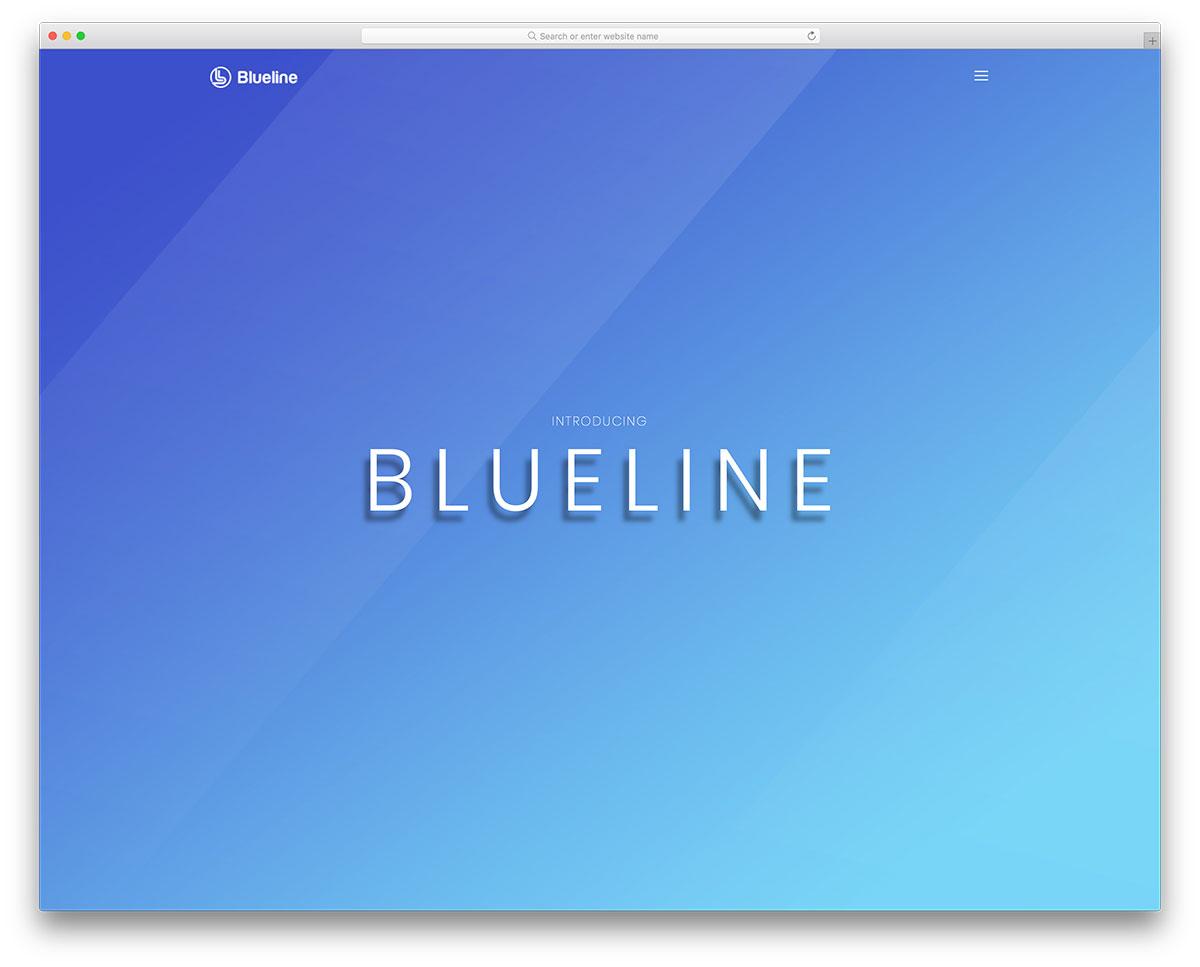 Blueline Free Mobile Friendly Website Template