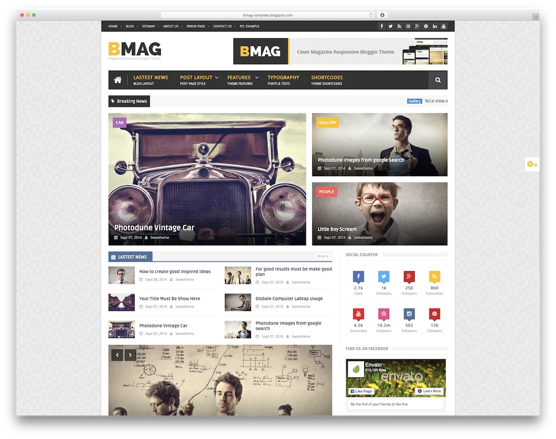 bmag free blogger template