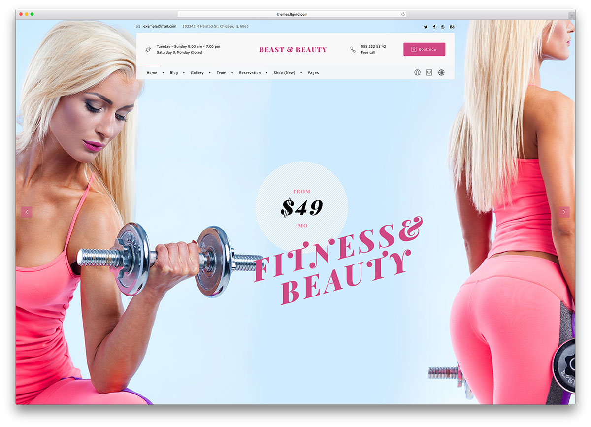 bnb-fitness-wordpress-website-template