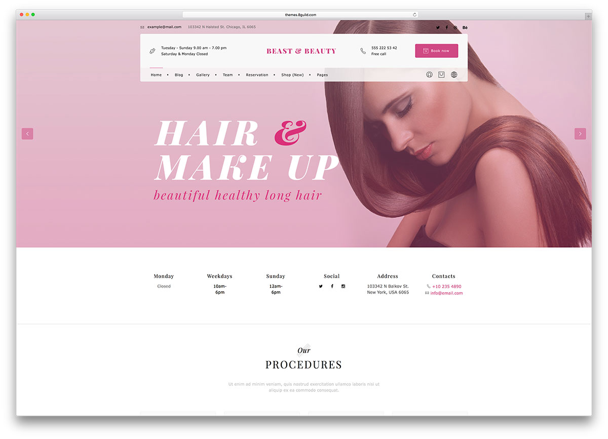 bnb-spa-wordpress-website-template