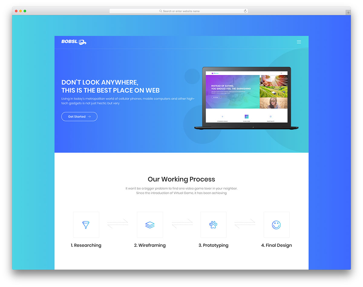 When in need to build a boxed landing page website, free Bobsled template has you sorted. It is a contemporary product which makes your lives a lot simpler.
