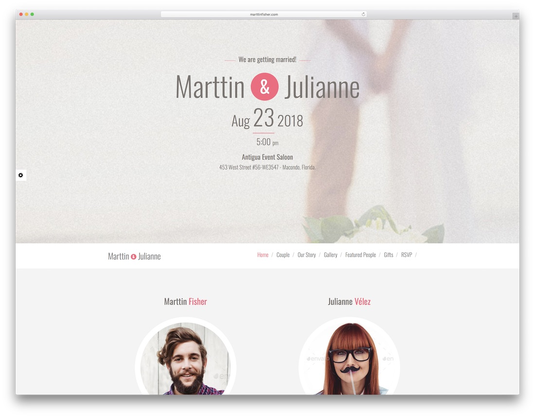bodas html wedding website template