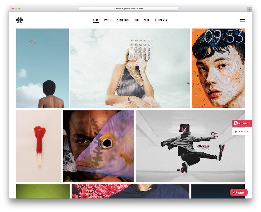 boldlab beautiful website template
