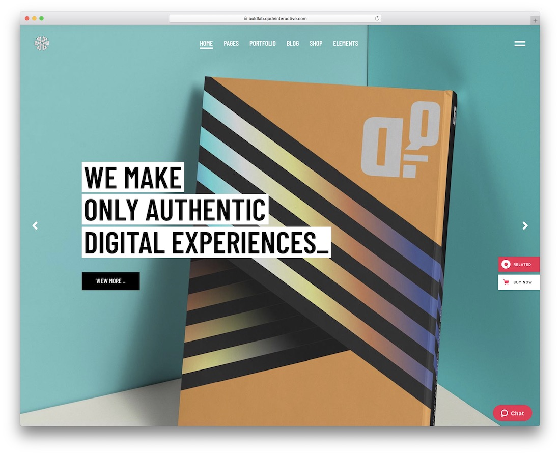 boldlab graphic design website template