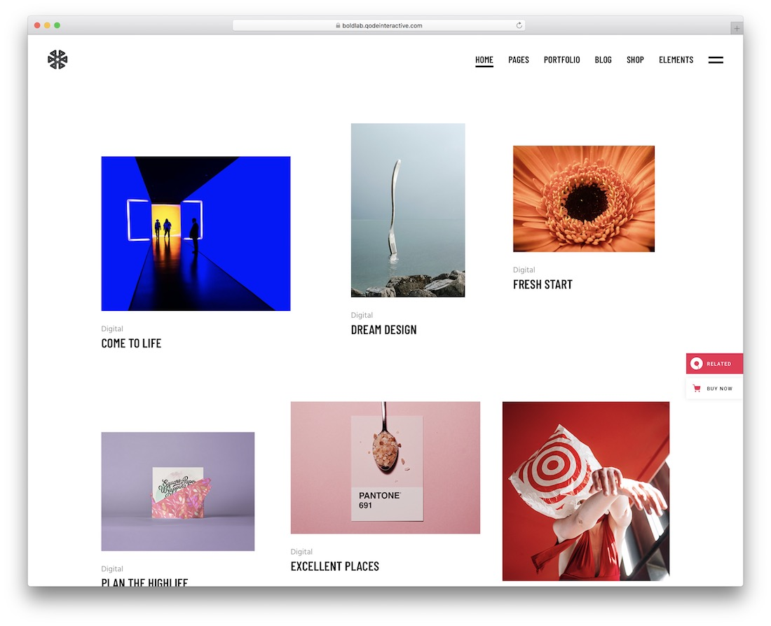 boldlab minimalist wordpress theme