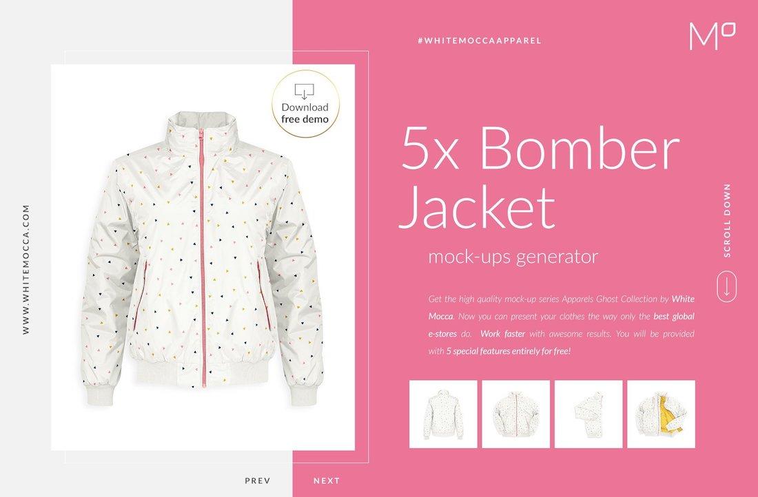 bomber jacket ghost mockups
